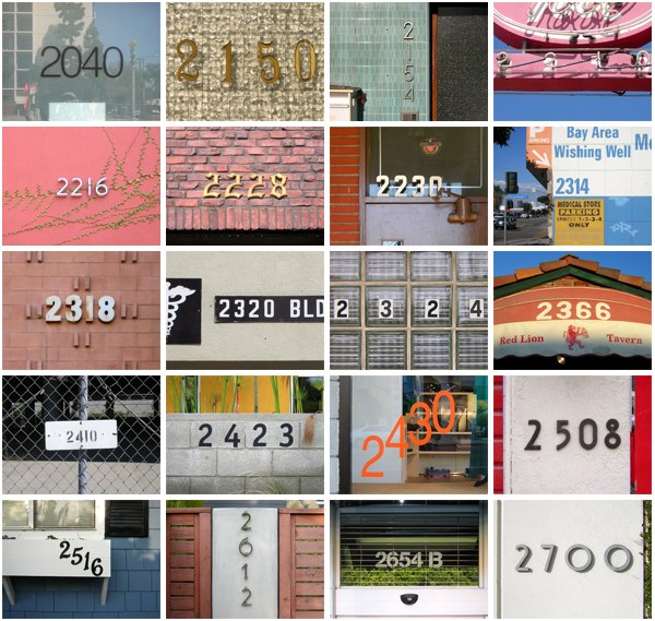 Los Angeles StreetNumbers Nov. 2007
